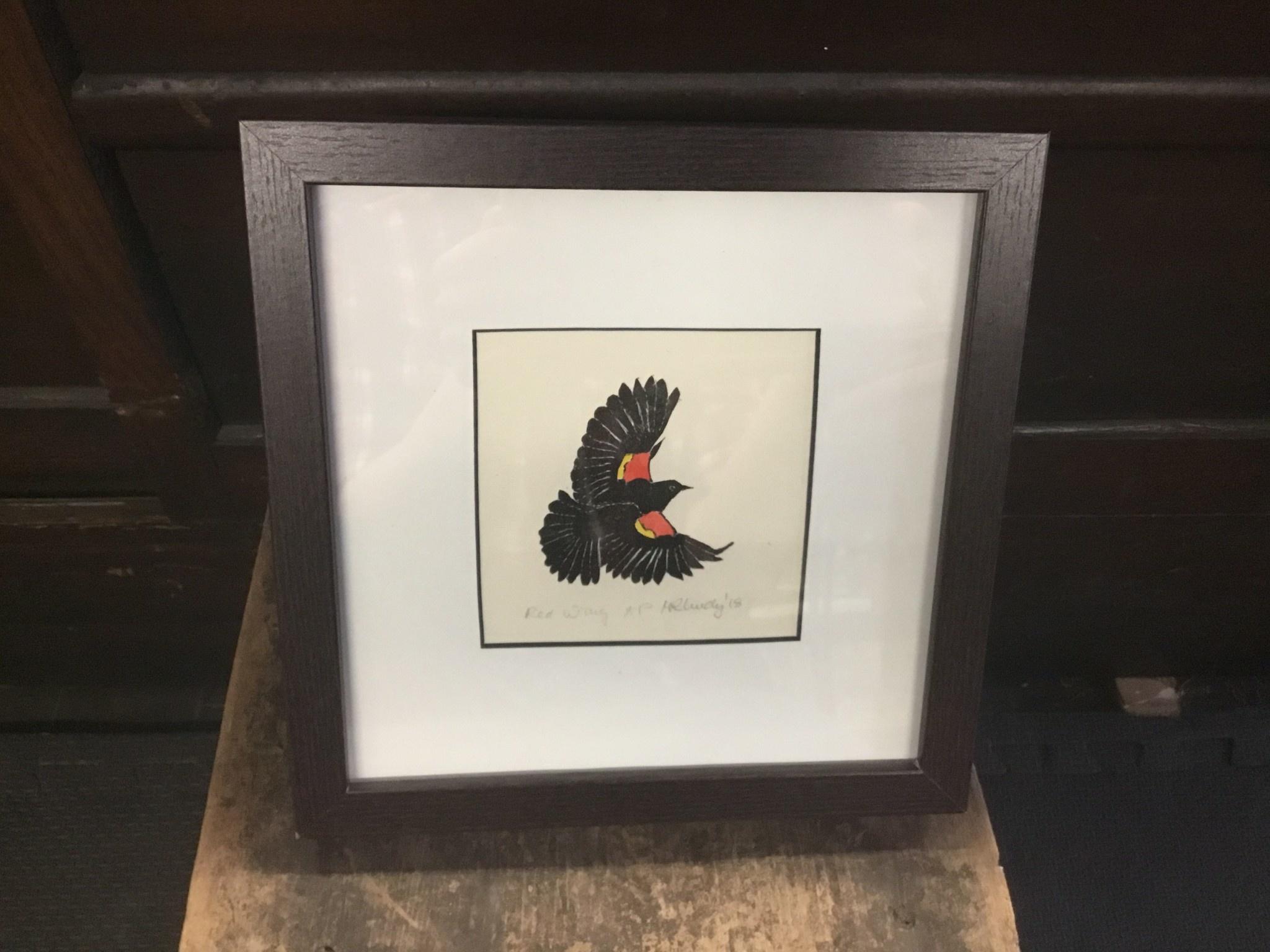 Maggi Rhudy Maggi Prints Red Wing Blackbird 8x8