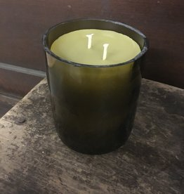 12oz Lavender Leaves Wine Bottle Candle Thomasyard