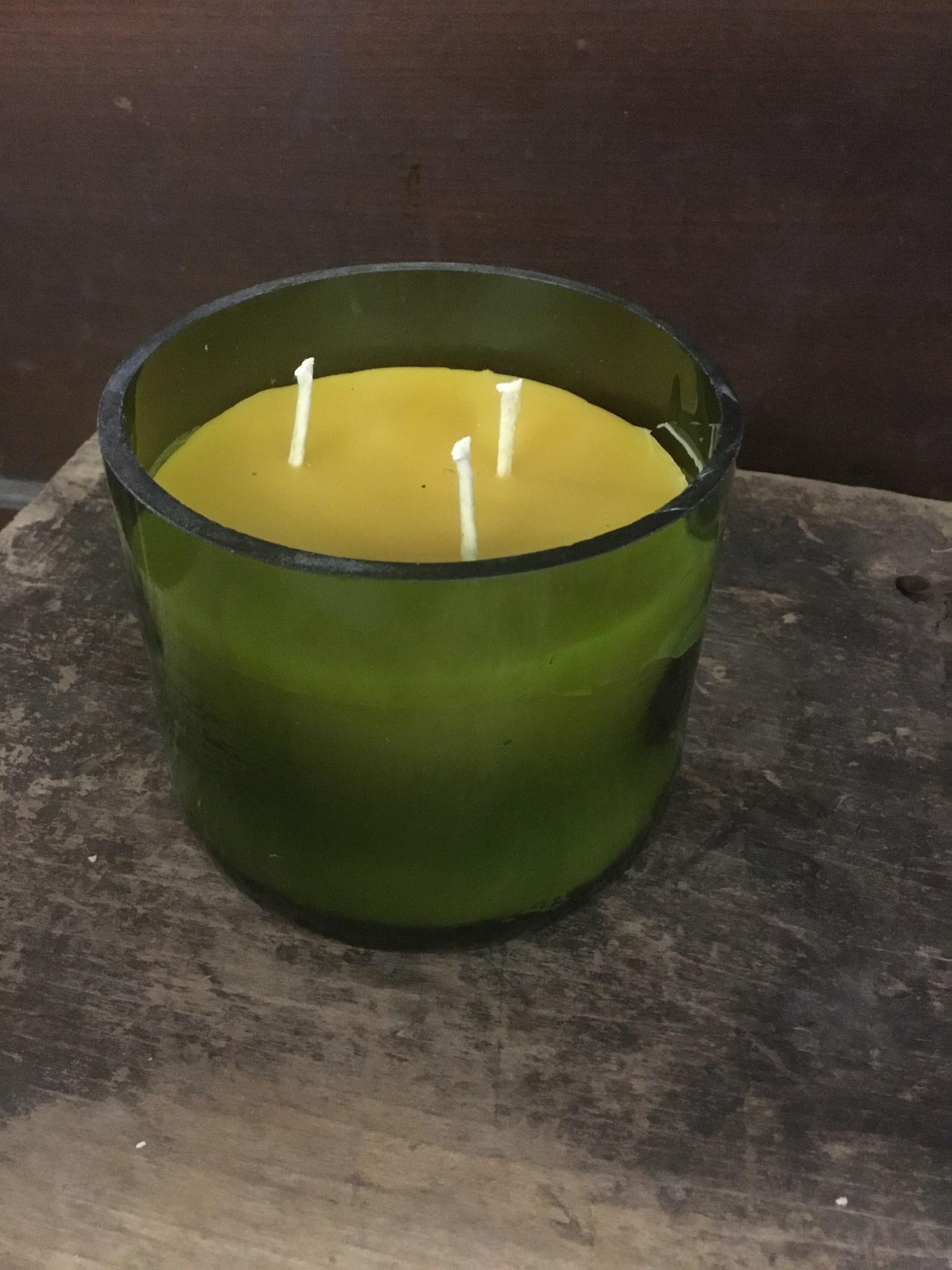 14oz Ginger Cranberry Wine Bottle Candle Thomasyard