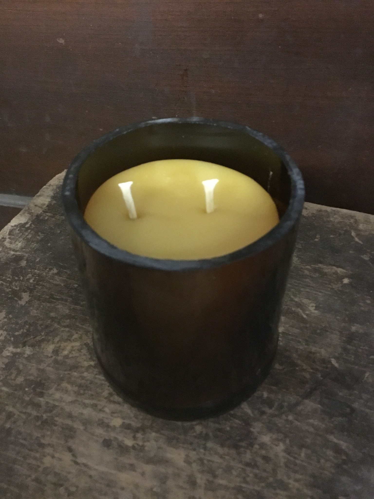 8oz Vanilla Wine Bottle Candle Thomasyard