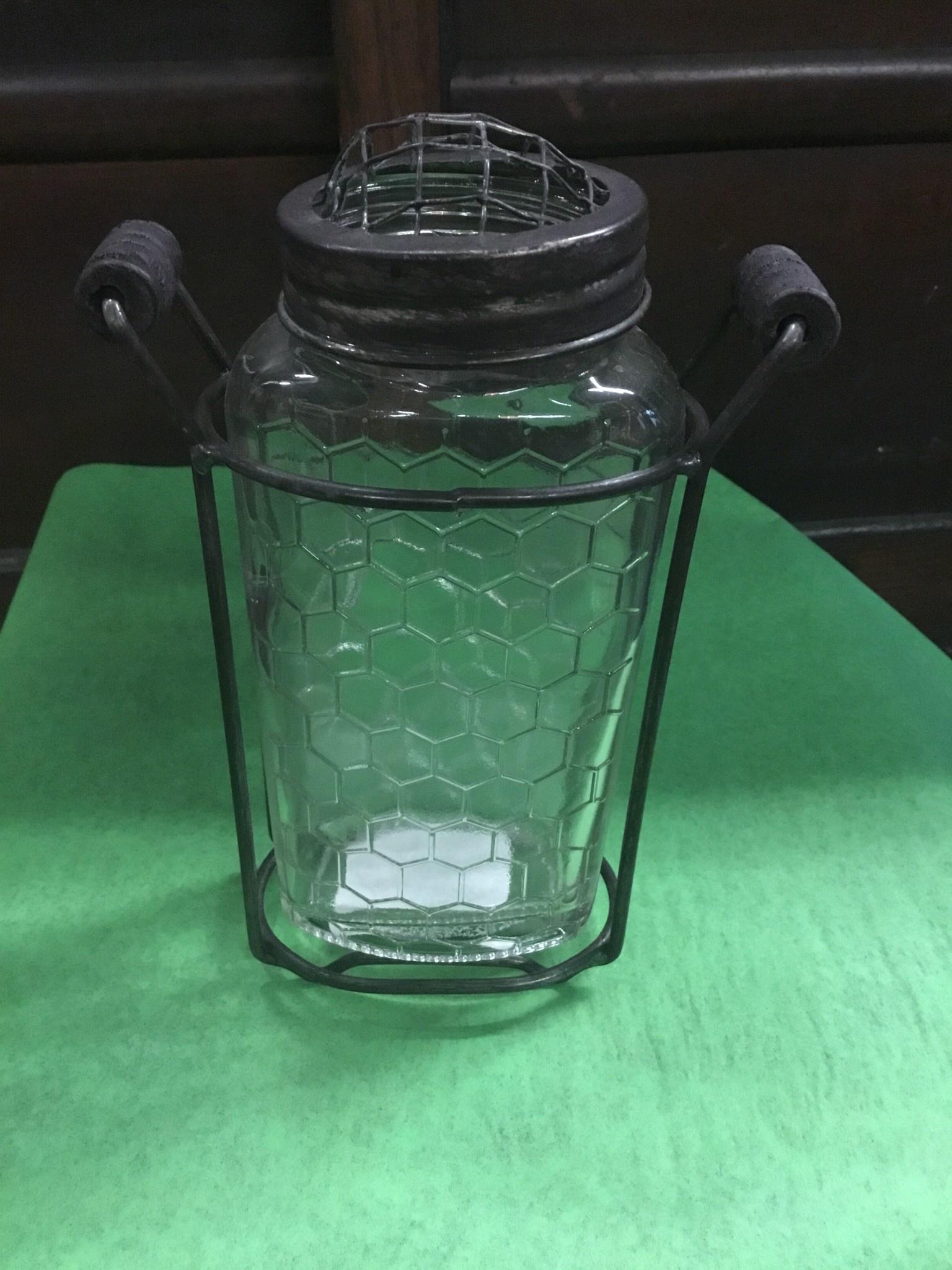 Glass Hexagon Jar Thomasyard