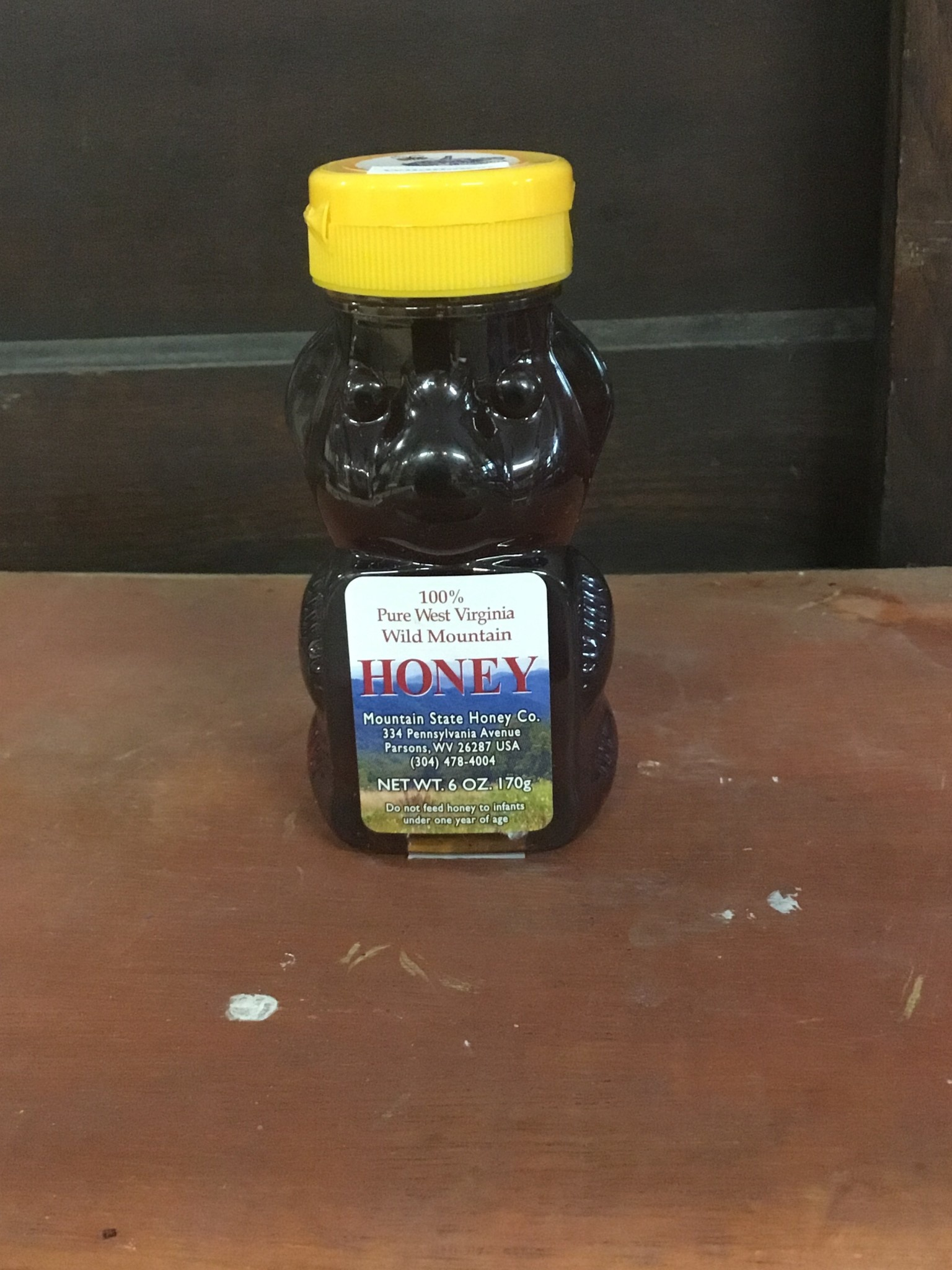 Mountain State Honey Company Mtn State Honey 6 oz. Wildflower Bear