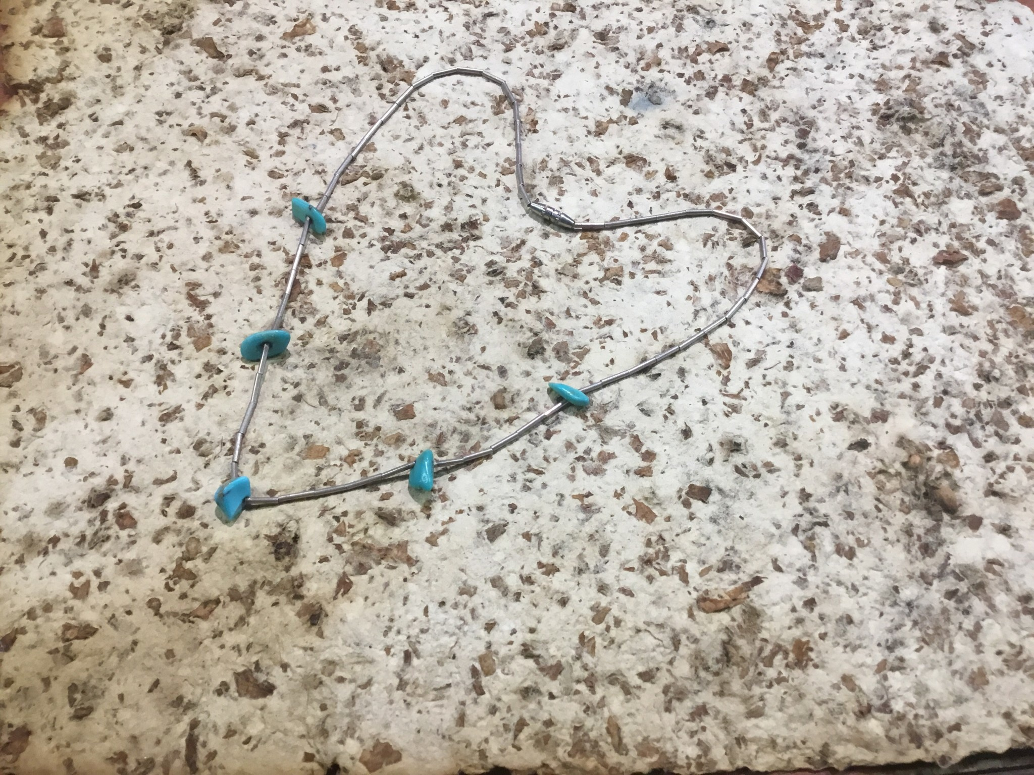 Tyler Elliott Silver/turquoise necklace #1