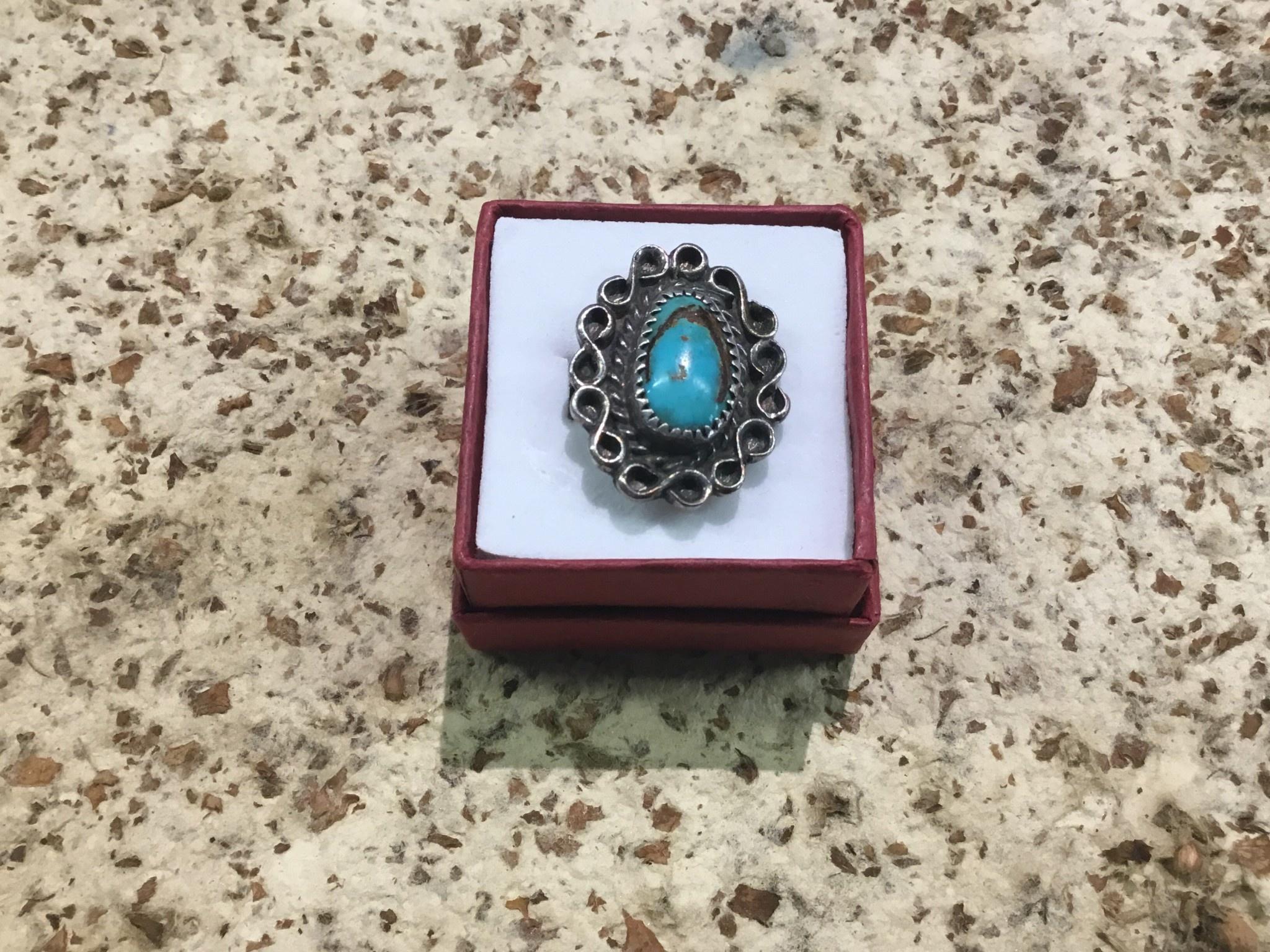 Tyler Elliott Turquoise infinity ring