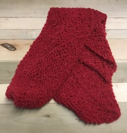 Maggi Rhudy Maggi Zig zag scarf Red 65% Wool 35% Acrylic