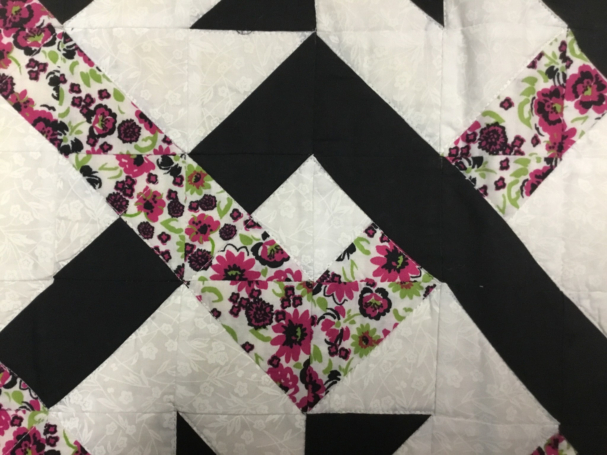 Effie Neff  Hand Stitched Spring Table Runner