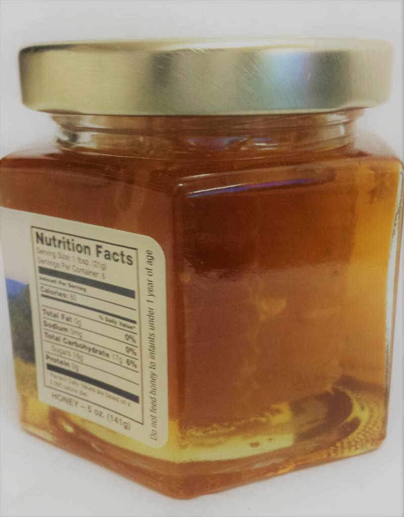 Mountain State Honey Company Mtn State Honey Honeycomb in 5 oz. Hex Jar