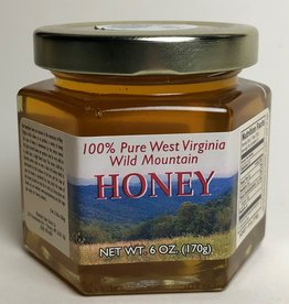 Mountain State Honey Company Mtn State Honey 6 oz. Basswood Hex Jar