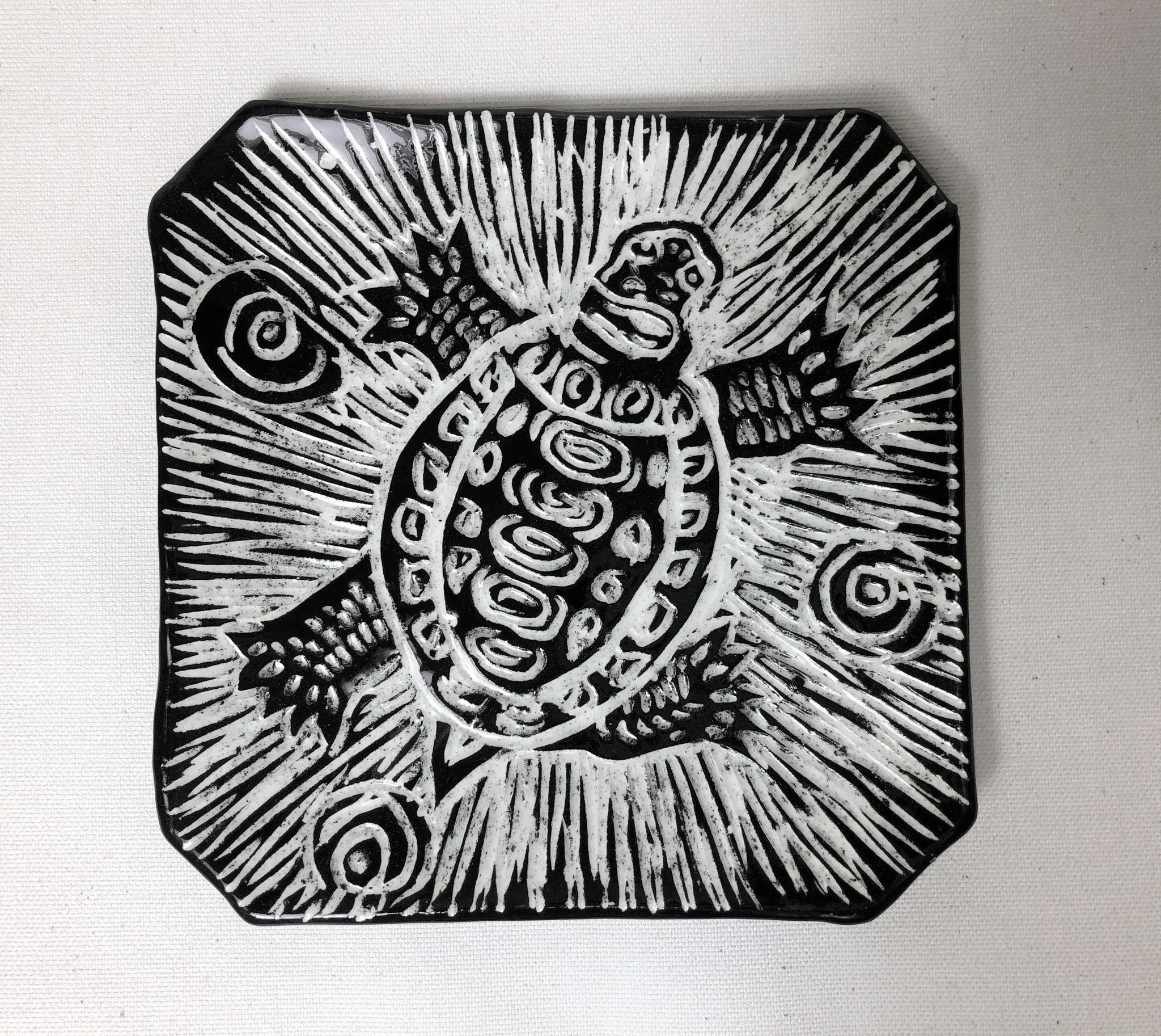"Nanette Square bowl, turtle 6.5"""