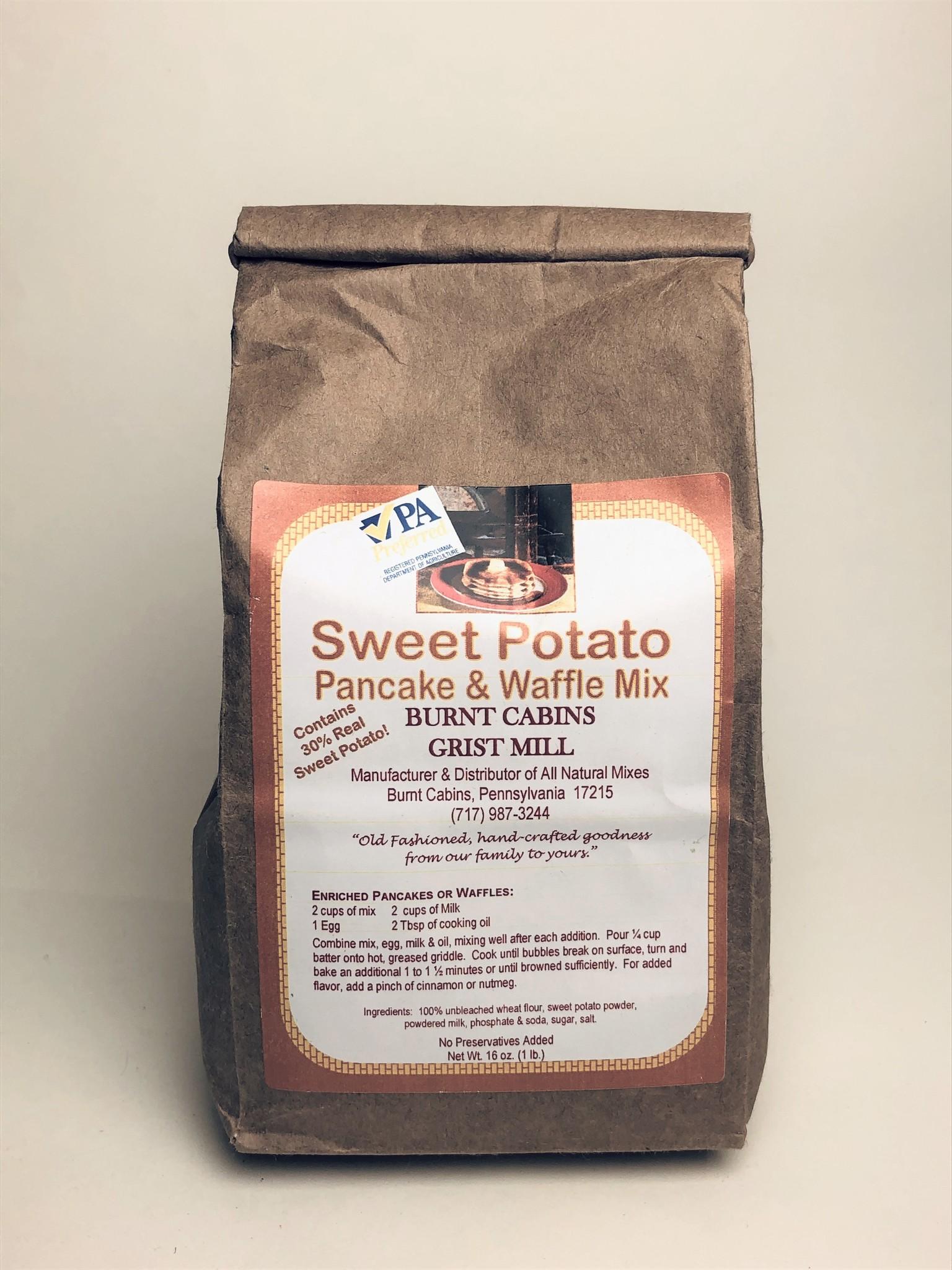 Burnt Cabins Grist Mill - Sweet Potato Pancake & Waffle Mix 1 lb.