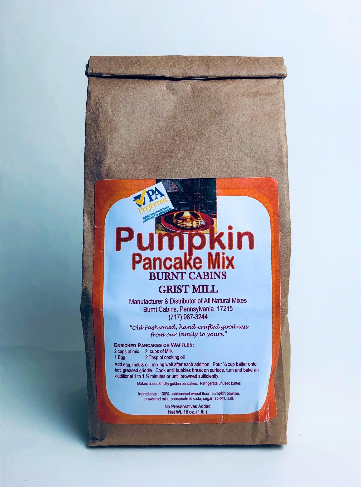Burnt Cabins Grist Mill - Pumpkin Pancake Mix 1 lb.