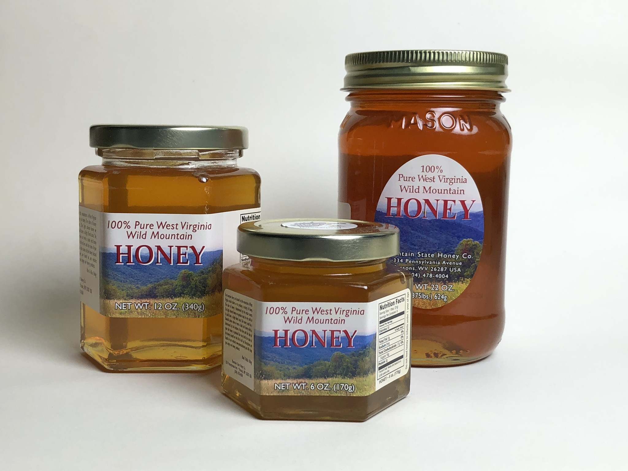 Mountain State Honey Company Mtn State Honey 7 oz. Mustard Hex Jar