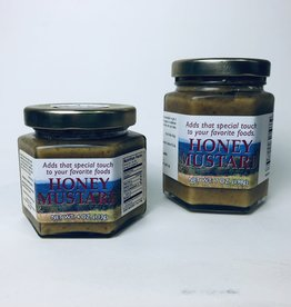 Mountain State Honey Company Mtn State Honey 4 oz. Mustard Hex Jar