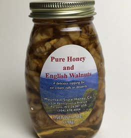 Mountain State Honey Company Mtn State Honey 7 oz. Honey & English Walnuts Jar