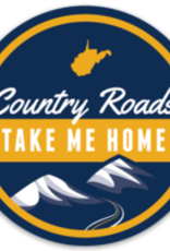 Loving WV Country Roads Sticker - Circle