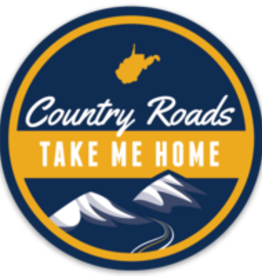 Loving WV Country Roads Sticker