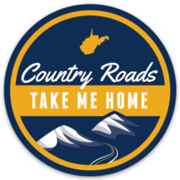 Loving WV Country Roads Sticker