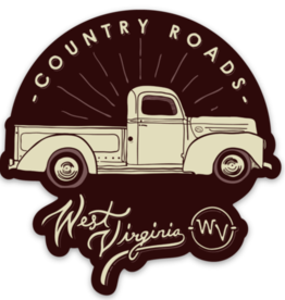 Loving WV Country Roads Truck Sticker