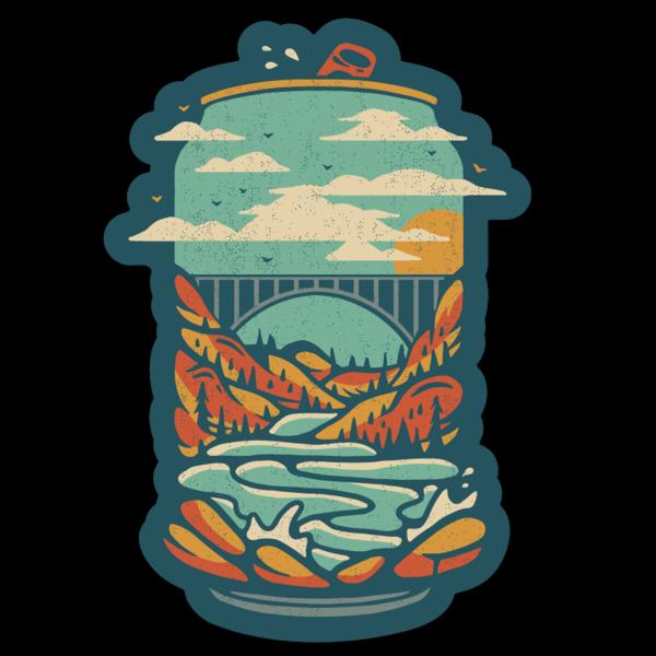 Loving WV New River Gorge Beer Sticker