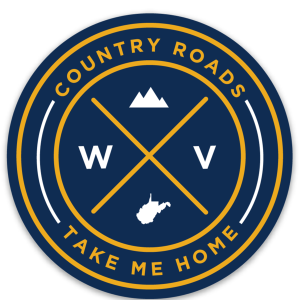 Loving WV WV Country Roads Seal Sticker