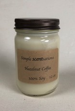 Simple Scentsation Hazelnut Coffee 12 oz Soy Candle