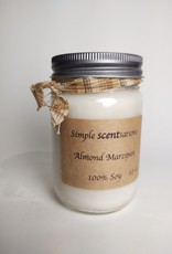 Simple Scentsation Almond Marzipan 12 oz. Soy Candle