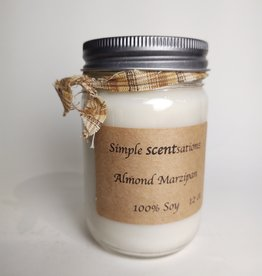 Simple Scentsation Almond Marzipan 16 oz. soy candle