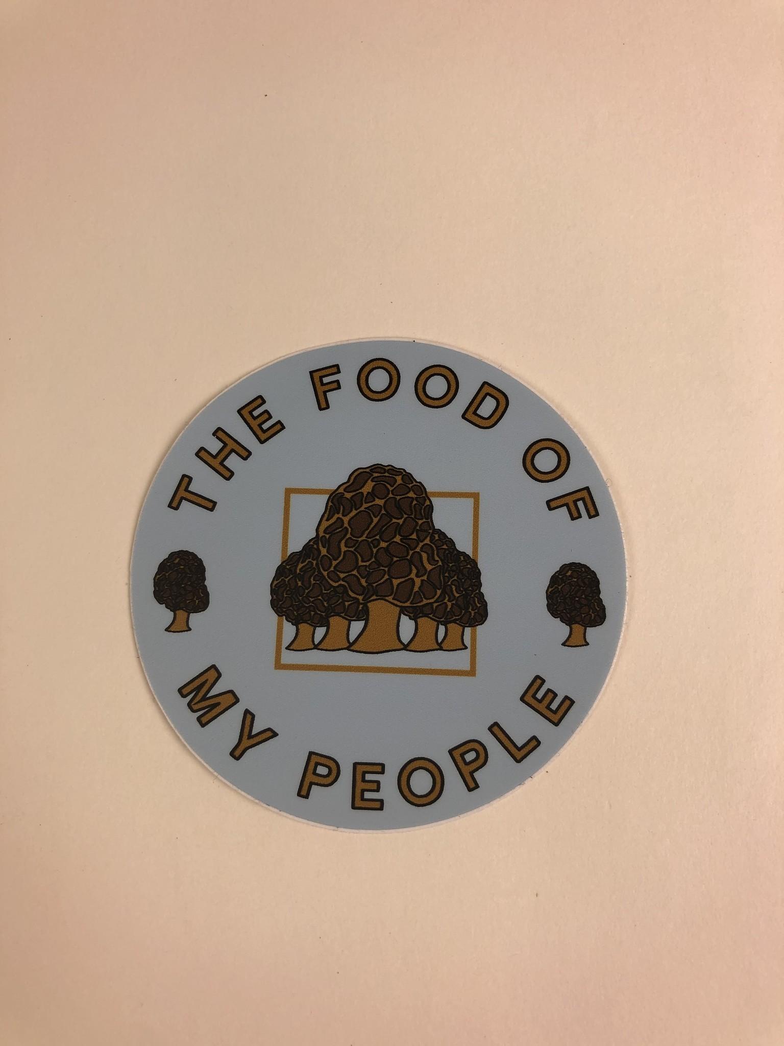 Loving WV Morels Food of My People Sticker