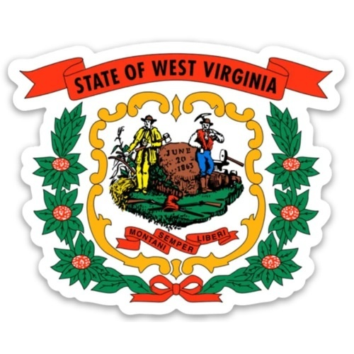 Loving WV WV State Seal Sticker
