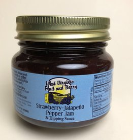 West Virginia Fruit and Berry WVF&B 10 oz. Strawberry Jalapeno Pepper Jam