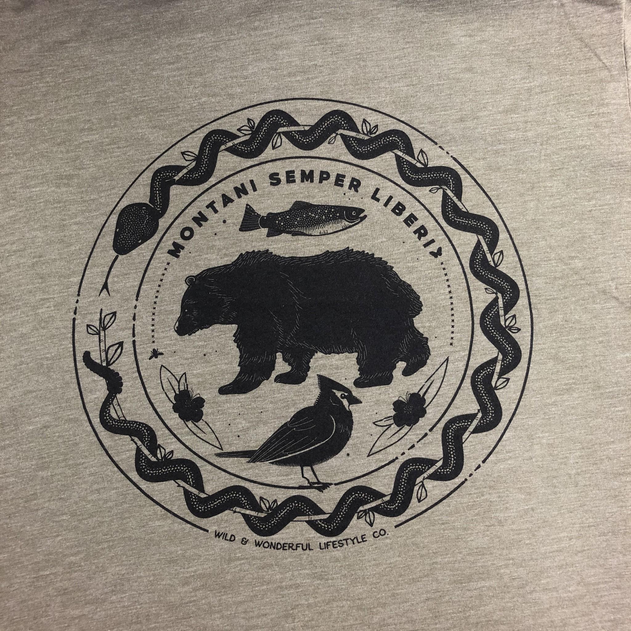 Wild & Wonderful Lifestyle Company WV Mountain Semper Bear Tee Sm