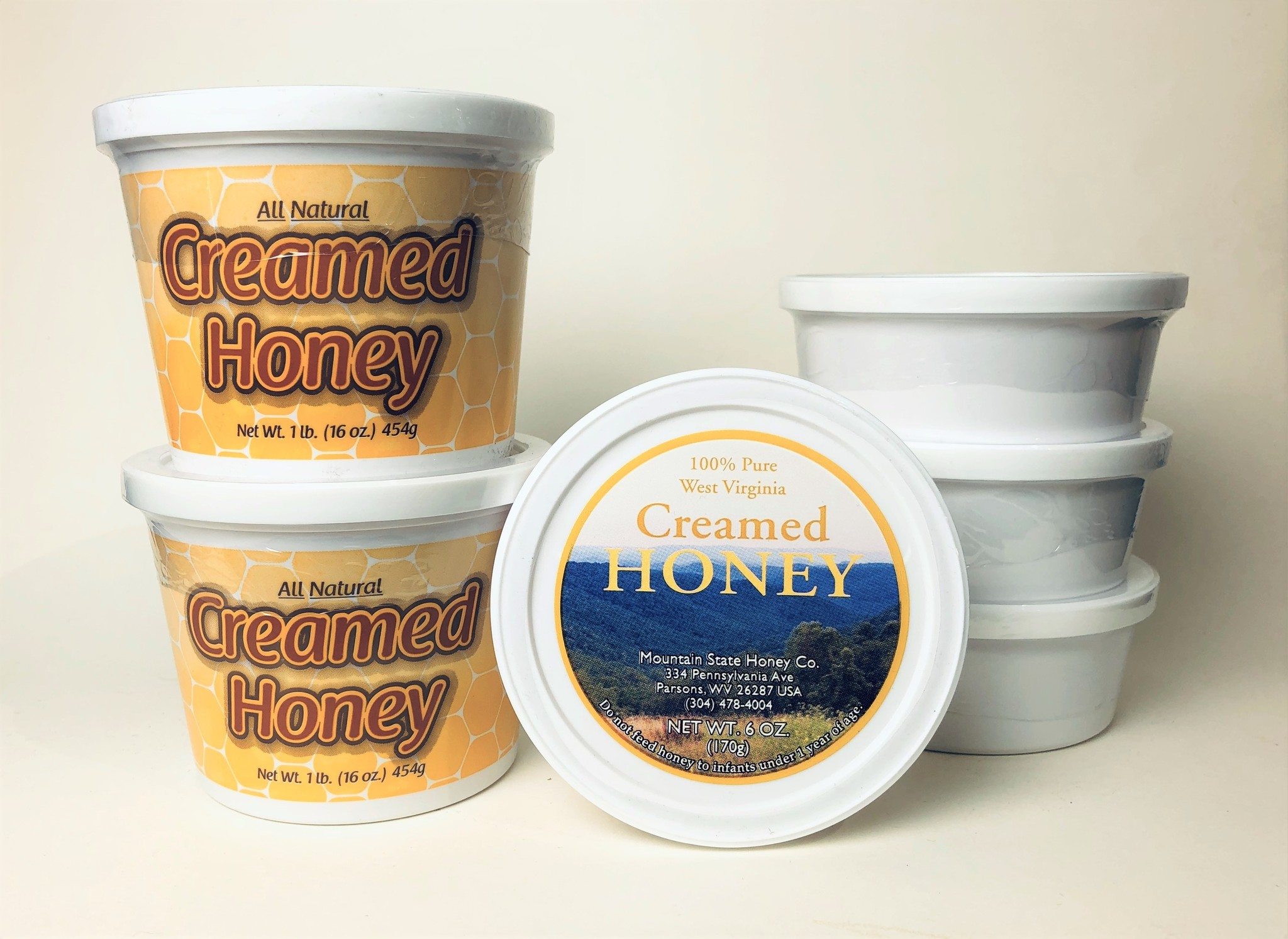 Mountain State Honey Company Mtn State Honey 6 oz. Creamed Peanut Butter