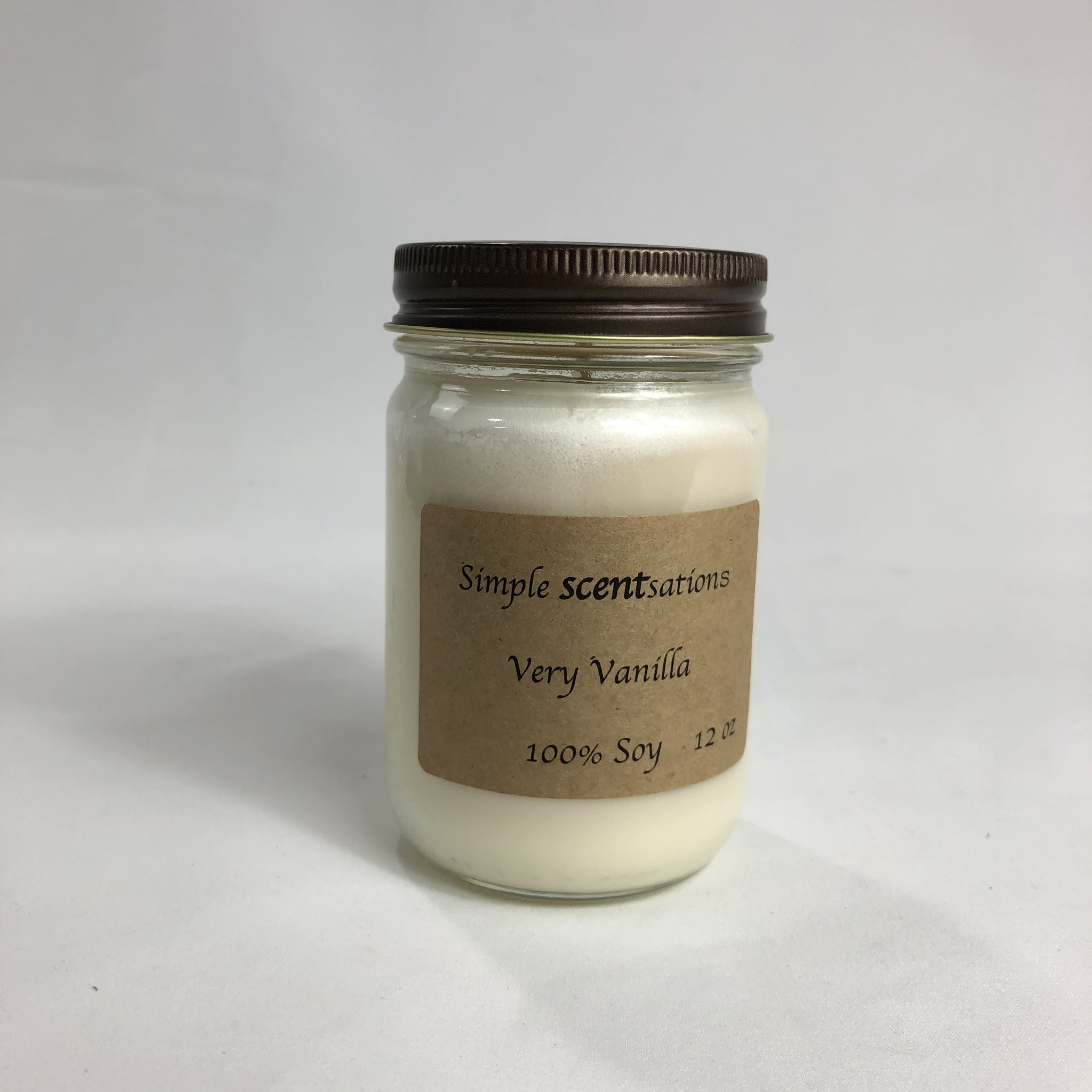 Simple Scentsation Very Vanilla 12 oz Soy Candle