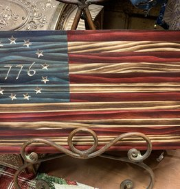 KLINE WOODWORKS Wooden American Flag 1776 small