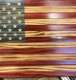 KLINE WOODWORKS Wooden American Flag Medium