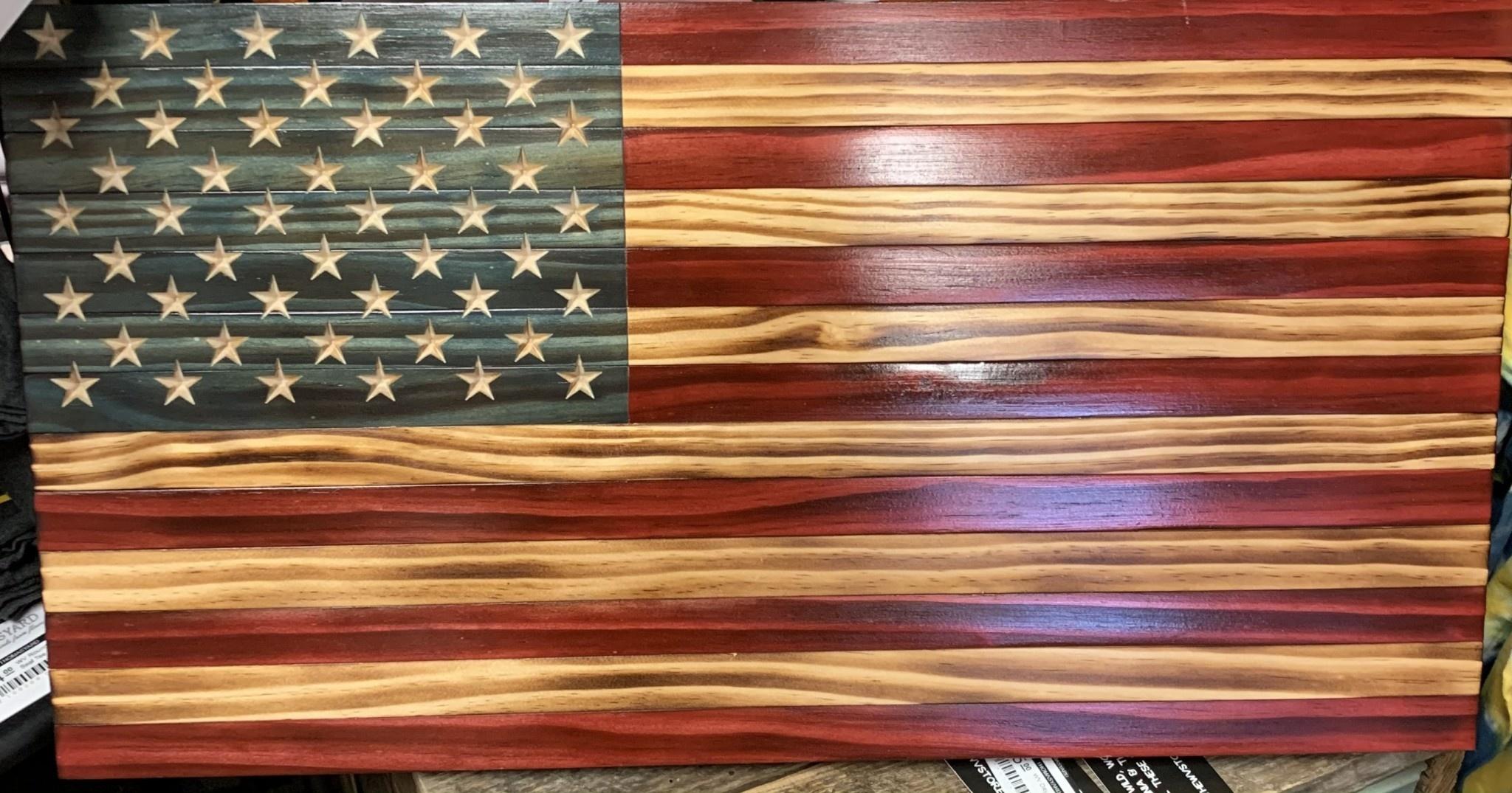 KLINE WOODWORKS Wooden American Flag Medium