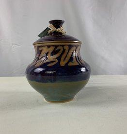 Randy Selbe Artisan Randy Selbe Urn w/ Lid Purple