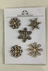 Davisyard Snowflake Ornament Set (Birch)