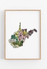 "Amanda Klein West Virginia Wild Print - 8"" x 10"""