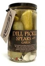 Copper Pot  & Wooden Spoon Garlic Dill Pickle Spears