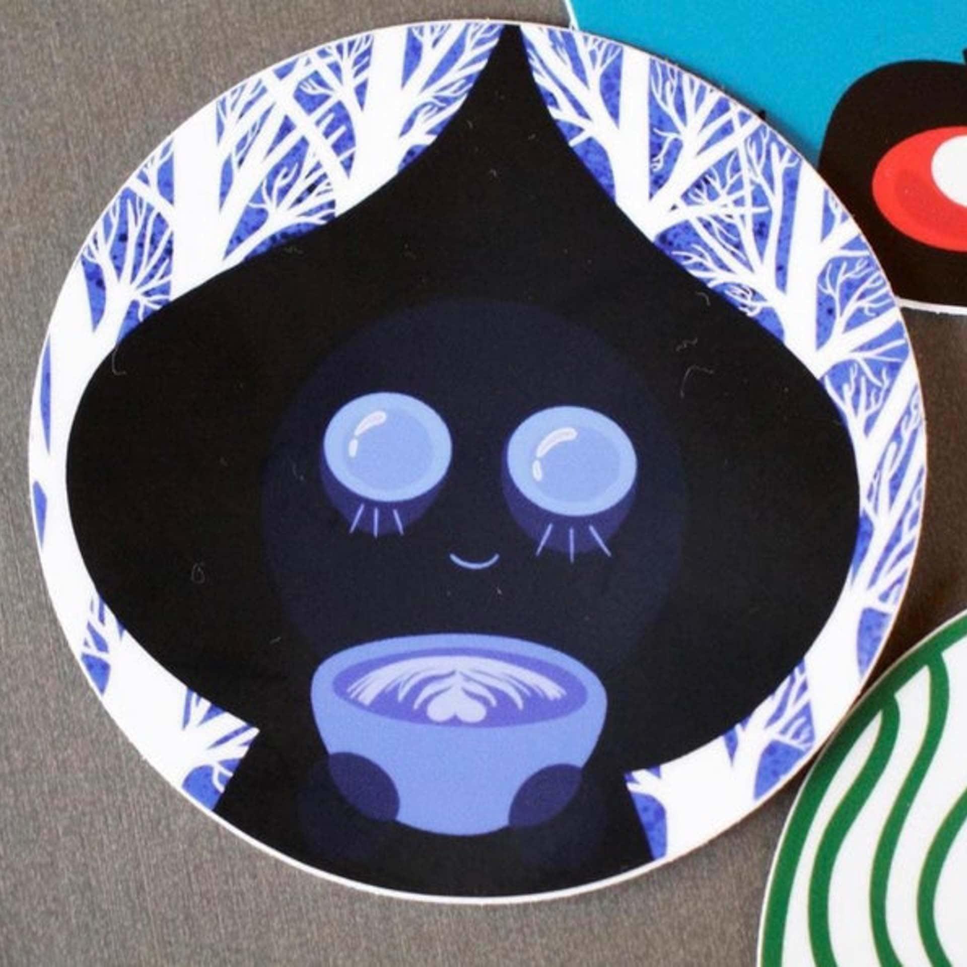 """Wonderfully Weird Designs Mothman & Flatwoods - 4"""" Kiss Cut"""