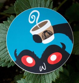 Wonderfully Weird Designs Mothman - Coffee & Cryptids - 3x3 Circle