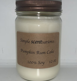 Simple Scentsation Pumpkin Rum Cake 12 oz Soy Candle