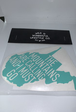 Wild & Wonderful Lifestyle Company WV Mountains Calling Must Go Decal