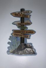 Wild & Wonderful Lifestyle Company WV Park Trail Markers Sticker