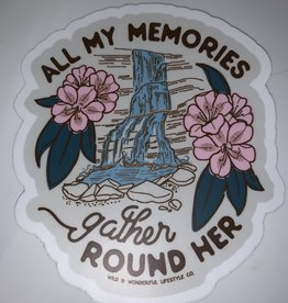 Wild & Wonderful Lifestyle Company WV All My Memories Waterfall Sticker