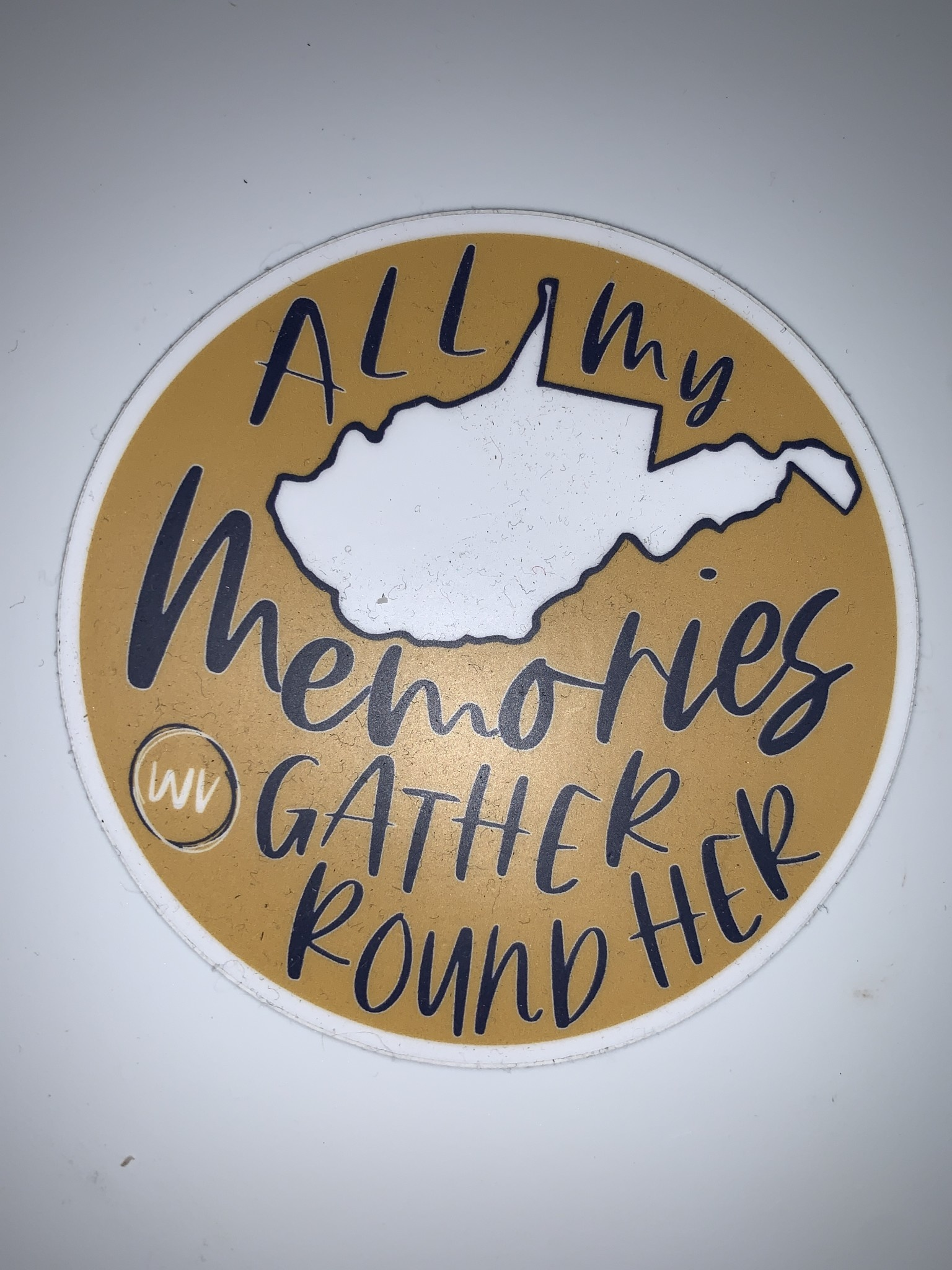 Wild & Wonderful Lifestyle Company WV Memories Sticker