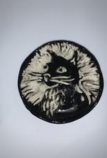 Nanette Small Round Dish - Cat Head