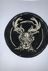 Nanette Small Round Bowl - Deer Head