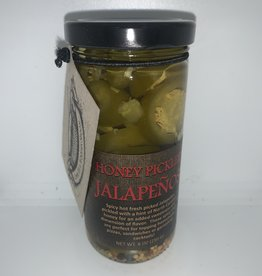 Copper Pot  & Wooden Spoon Honey Pickled Jalapeños